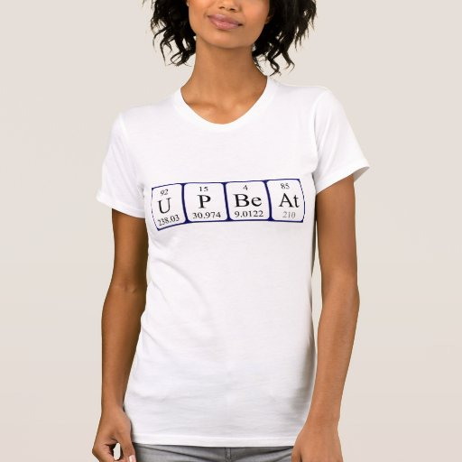 Camisa optimista da frase da mesa periódica tshirts