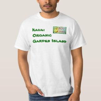 Camisa orgânica da ilha T do jardim de Kauai