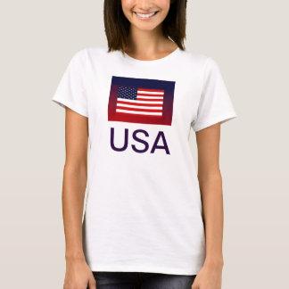 Camisa patriótica da bandeira dos EUA para