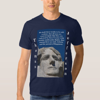 Camisa patriótica de Thomas Jefferson (obscuridade T-shirt