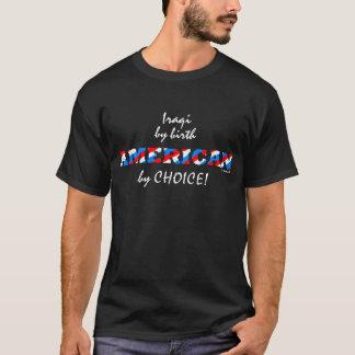 Camisa patriótica do americano de 100%