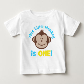 Camisa pequena adorável do primeiro aniversario