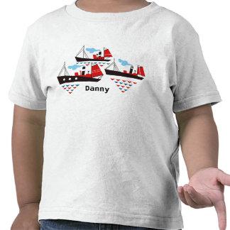 Camisa pequena de três navios T Tshirt