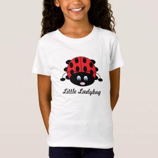 Camisa pequena do joaninha para meninas