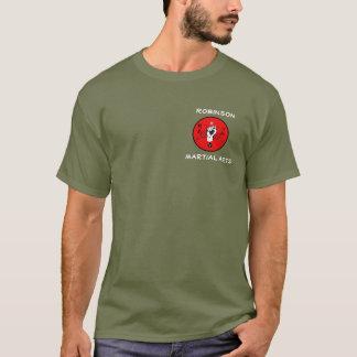 Camisa pequena do logotipo de RMA