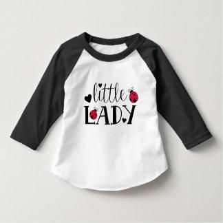 Camisa pequena do Raglan da luva da senhora Tshirt