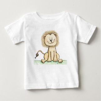 Camisa pequena doce da criança T do bebê do leão