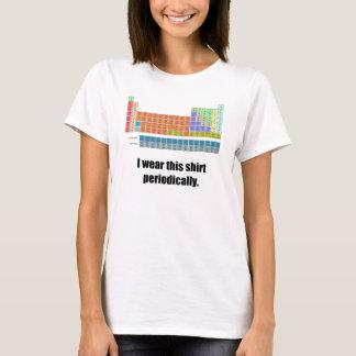 Camisa periódica engraçada