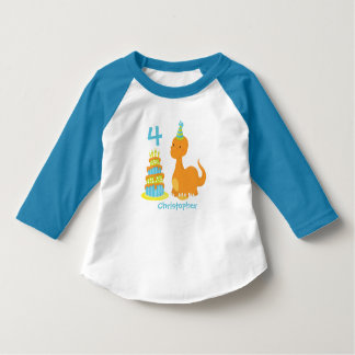 Camisa personalizada aniversário do dinossauro -