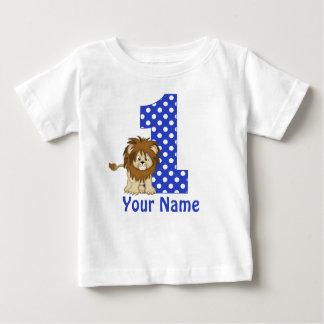 Camisa personalizada azul do leão do primeiro