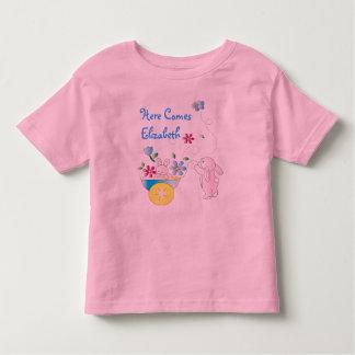 Camisa personalizada bebê do coelho T Tshirt
