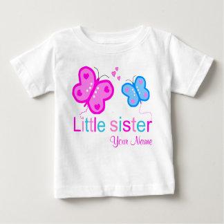 Camisa personalizada borboleta da irmã mais nova T