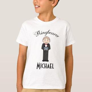 Camisa personalizada casamento de Ringbearer T