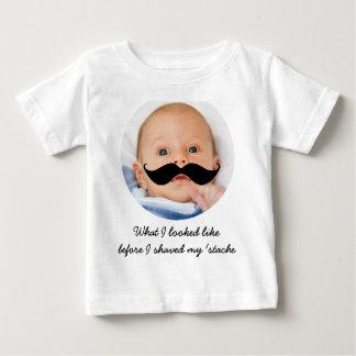 Camisa personalizada da foto do bigode do bebê t-shirts