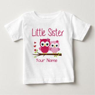 Camisa personalizada da irmã mais nova coruja