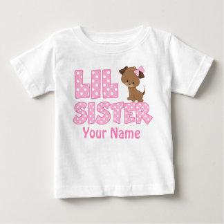 Camisa personalizada da irmã mais nova filhote de