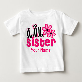 Camisa personalizada da irmã mais nova zebra
