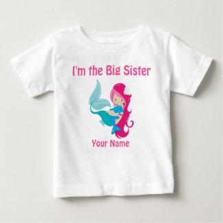 Camisa personalizada da irmã mais velha sereia
