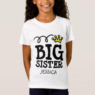 Camisa personalizada da irmã mais velha t para o