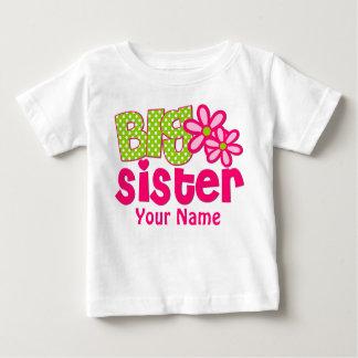 Camisa personalizada da irmã mais velha verde