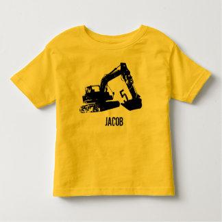 Camisa personalizada da máquina escavadora
