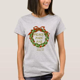 Camisa personalizada da paz do feriado da família