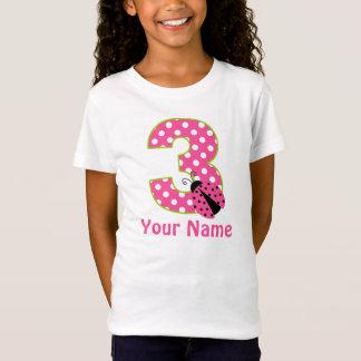 Camisa personalizada do aniversário de 3 anos