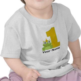 Camisa personalizada do aniversário do sapo primei tshirt