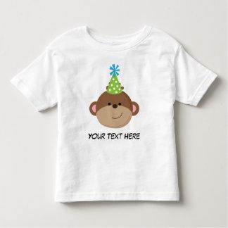 Camisa personalizada do aniversário T do macaco Camiseta