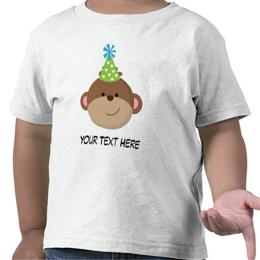 Camisa personalizada do aniversário T do macaco pa T-shirt