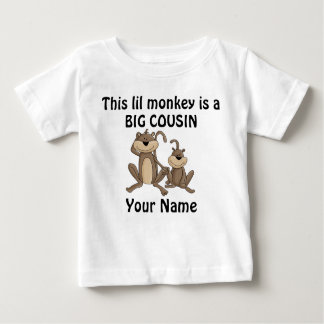 Camisa personalizada do primo macaco grande
