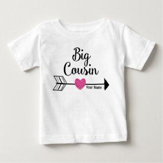 Camisa personalizada do rosa do primo seta grande