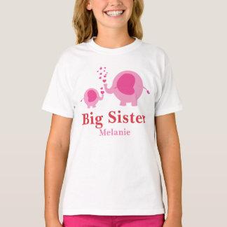 Camisa personalizada dos pares do elefante da irmã