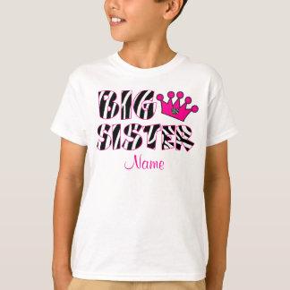 Camisa personalizada impressão da zebra da irmã