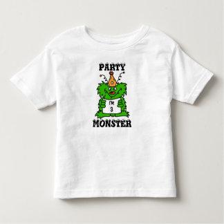Camisa personalizada monstro do aniversário do