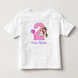 Camisa personalizada vaqueira da menina T do
