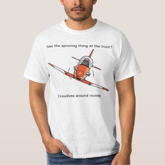 Camisa plana engraçada dos desenhos animados da