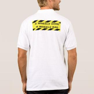 """Camisa Polo """"2 pólos do ciclismo das rodas bons"""" para homens"""
