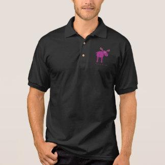 Camisa Polo Alces cor-de-rosa no fraco