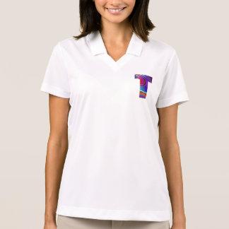 Camisa Polo Alfabeto ALFA do T T: Identidade inicial TT da