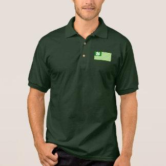 Camisa Polo Americano irlandês verde do pólo | do Dia de São