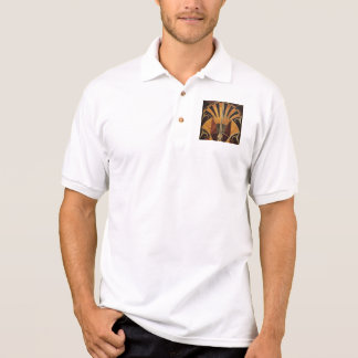 Camisa Polo arte Nouveau, art deco, vintage, multi cores de