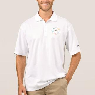Camisa Polo Átomo com elétrons coloridos