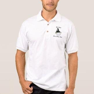 Camisa Polo Baldhead do preto do pombo da trompetista