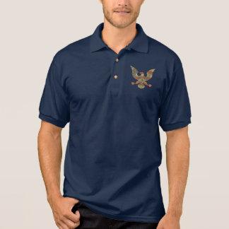 Camisa Polo Bandeira americana patriótica de América Eagle dos