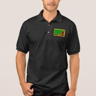 Camisa Polo Bandeira da Zâmbia