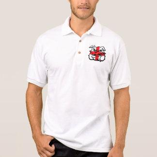 Camisa Polo Bandeira inglesa, buldogue inglês