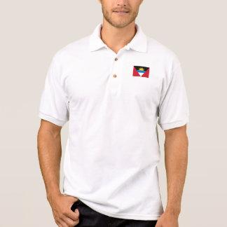 Camisa Polo Bandeira patriótica de Antígua e de Barbuda