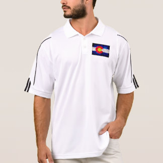 Camisa Polo Bandeira resistida do estado de Colorado do