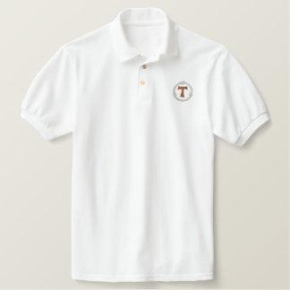 Camisa Polo Bordada Cruz franciscan da tau - francescana da tau
